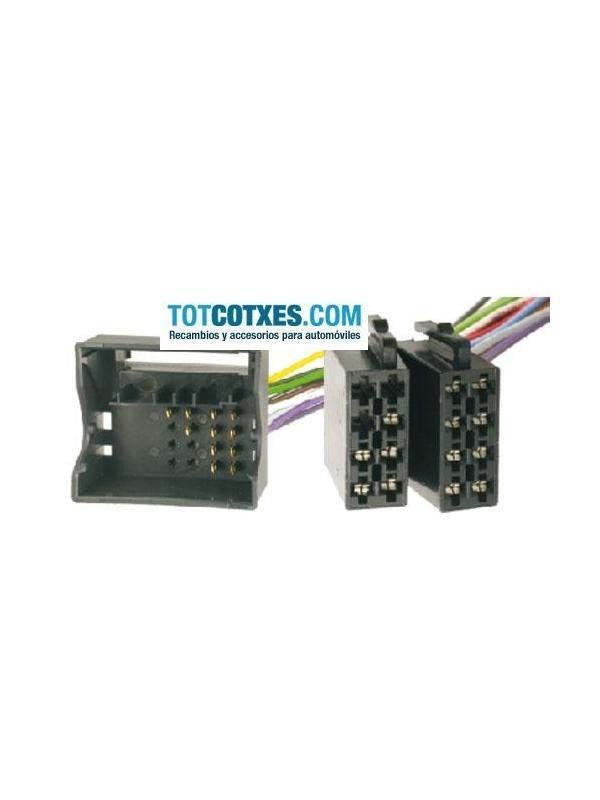 CONECTOR ISO - RADIO  VW GOLF V , TOURAN , PASSAT , TOUAREG 2002->  - CONECTOR ISO - RADIO  VW GOLF V , TOURAN , PASSAT , TOUAREG 2002->