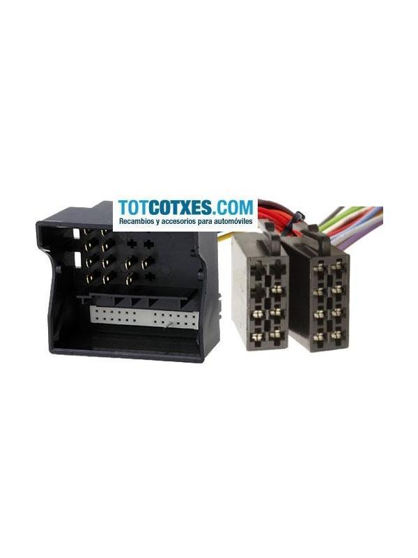 CONECTOR ISO - RADIO  OPEL ASTRA H , CORSA C , VECTRA C 2004-> ISO con Fakra blanco de 24 pin - CONECTOR ISO - RADIO  OPEL ASTRA H , CORSA C , VECTRA C 2004-> ISO con Fakra blanco de 24 pin