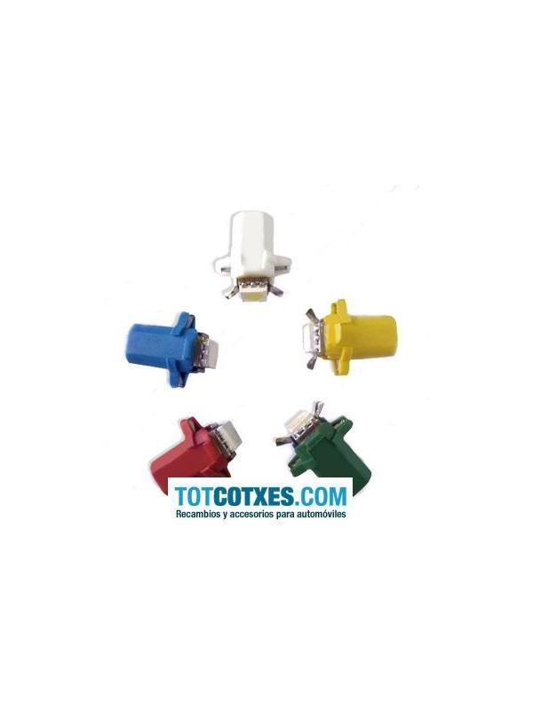 1 bombilla 1 x LED/SMD B8.3D, T5, BAX10s Yellow / Amarillo ref.b83d-1-36 - 1 bombilla 1 x LED/SMD B8.3D, T5, BAX10s Yellow / Amarillo ref.b83d-1-36