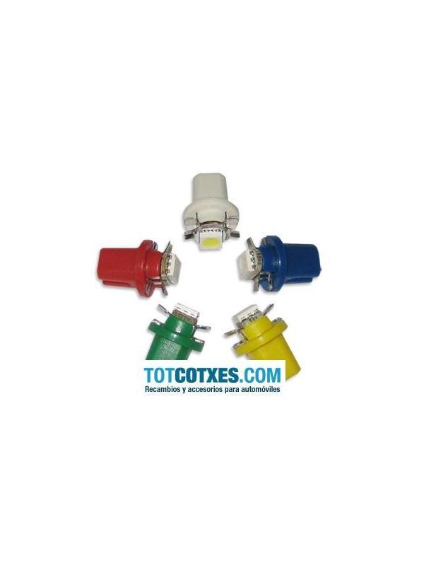 1 bombilla 1 x LED/SMD B8.5D, T5, BX8.5D, BAX10D Yellow / Amarillo ref.b85d-1-41 - 1 bombilla 1 x LED/SMD B8.5D, T5, BX8.5D, BAX10D Yellow / Amarillo ref.b85d-1-41