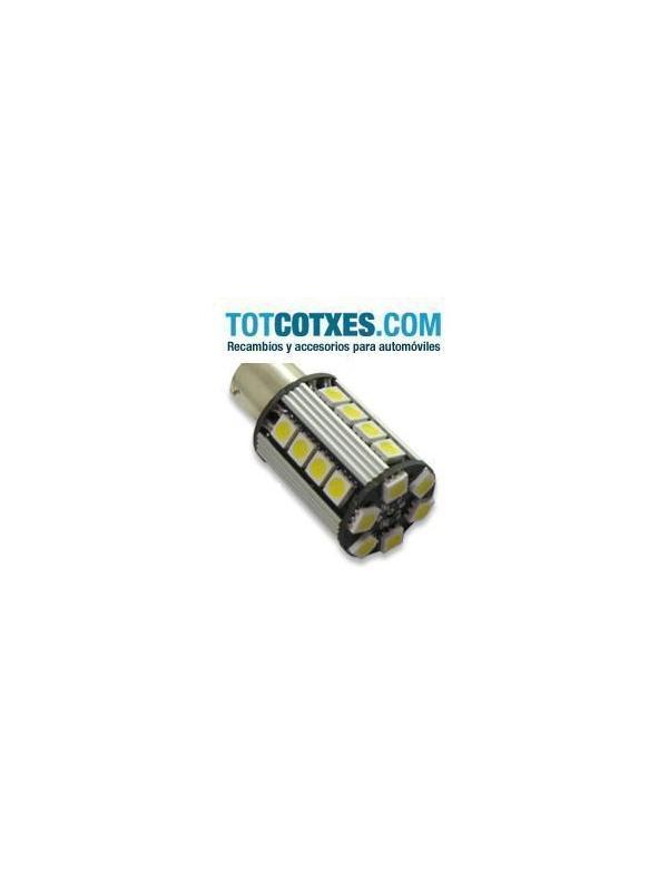 1 bombilla 26 x LED/SMD CANBUS BAU15S Yellow / Amarilla ref.bau15s-26-71