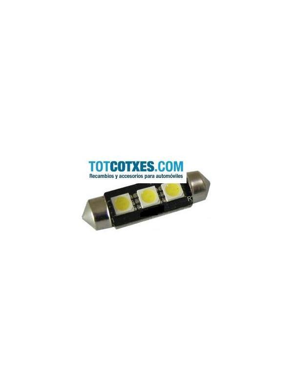 1 bombilla 3 x LED/SMD C5W, Festoon 36mm White / blanca ( puro blanco ) ref.c5w-3-55 - 1 bombilla 3 x LED/SMD C5W, Festoon 36mm White / blanca ( puro blanco ) ref.c5w-3-55
