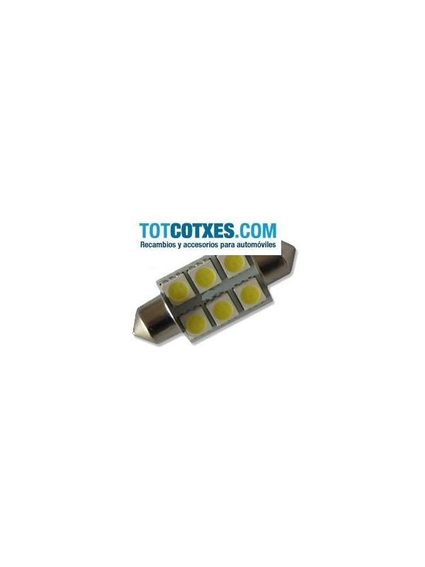 1 bombilla 6 x LED/SMD C5W, Festoon 36mm White / blanca ( puro blanco ) ref.c5w-6-56 - 1 bombilla 6 x LED/SMD C5W, Festoon 36mm White / blanca ( puro blanco ) ref.c5w-6-56
