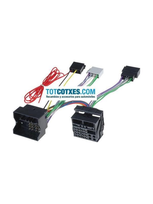 CONECTORES ISO - OEM PARA MANOS LIBRES AUDI , SEAT , SKODA , VW