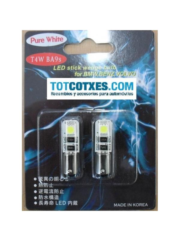 2 bombillas LED/SMD CANBUS T4W  BA9S White / blanca ( puro blanco ) - 2 bombillas LED/SMD CANBUS T4W  BA9S White / blanca ( puro blanco )