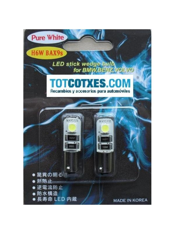 2 bombillas LED/SMD CANBUS H6W  BAX9S White / blanca ( puro blanco ) - 2 bombillas LED/SMD CANBUS H6W  BAX9S White / blanca ( puro blanco )